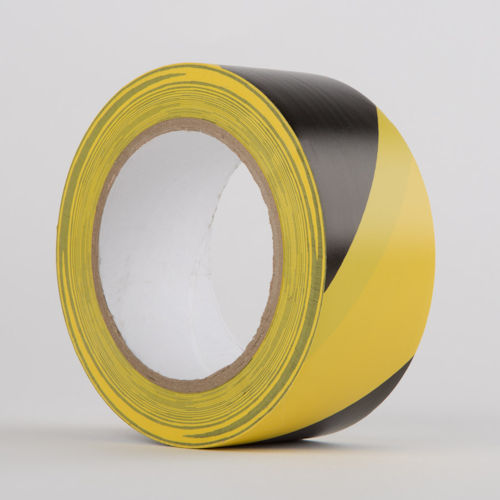 Hazard Warning PVC Tape BLACK/YELLOW