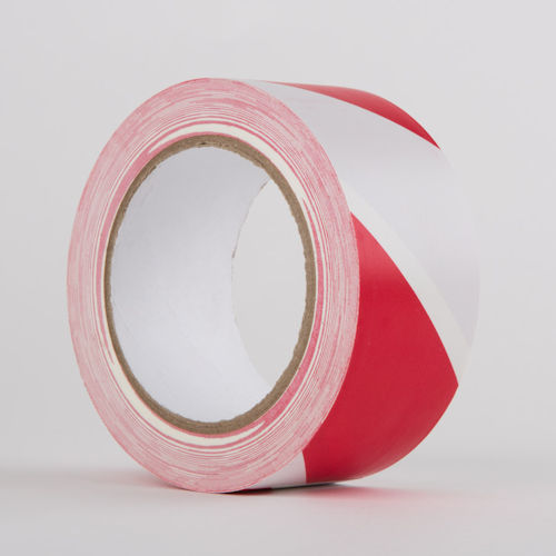 Hazard Warning PVC Tape RED/WHITE