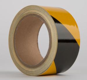 Le Mark - Reflective Hazard Warning Tape BLACK/YELLOW