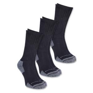 Carhartt - ALL-SEASON COTTON SOCK 3-PAIR L BLACK