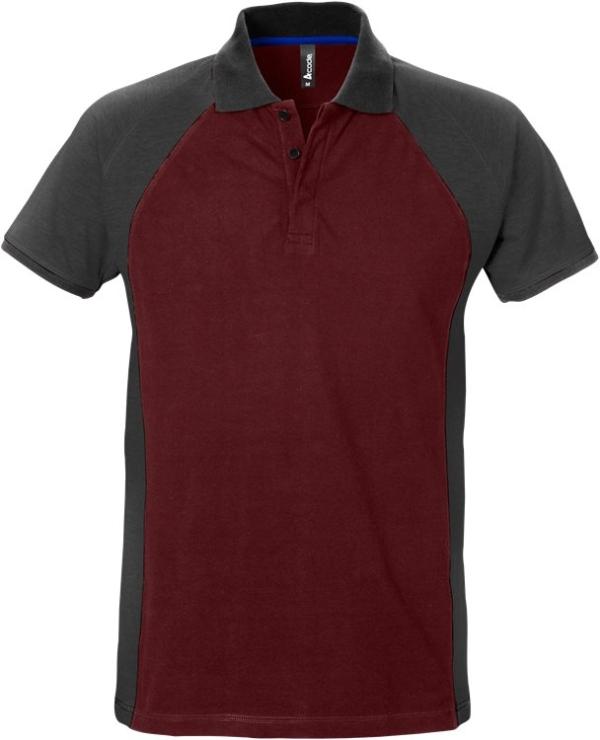 Fristads - Acode Poloshirt 7650 PIQ Weinrot/Grau 3XL