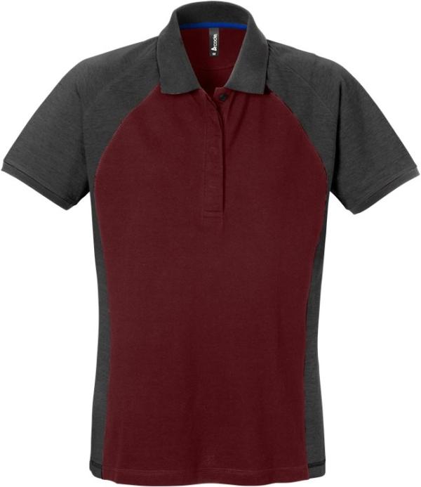 Fristads - Acode Poloshirt Damen 7651 PIQ Weinrot/Grau 2XL
