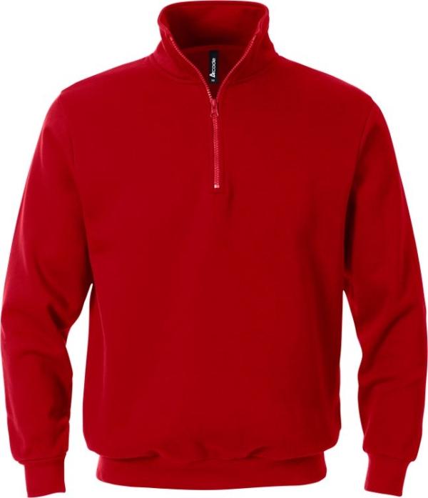Fristads - Acode Zipper-Sweatshirt 1737 SWB Rot 3XL