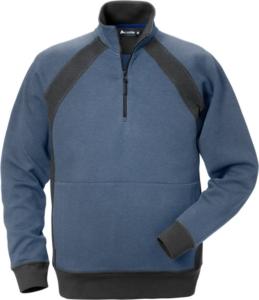 Fristads - Acode Zipper-Sweatshirt 1755 DF Blau/Grau 3XL