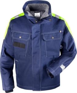 Fristads - Baumwoll-Winterjacke 447 FASI Blau 3XL