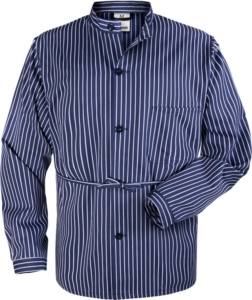 Fristads - Baumwollhemd Langarm 431 VL Blau/Weiß 2XL