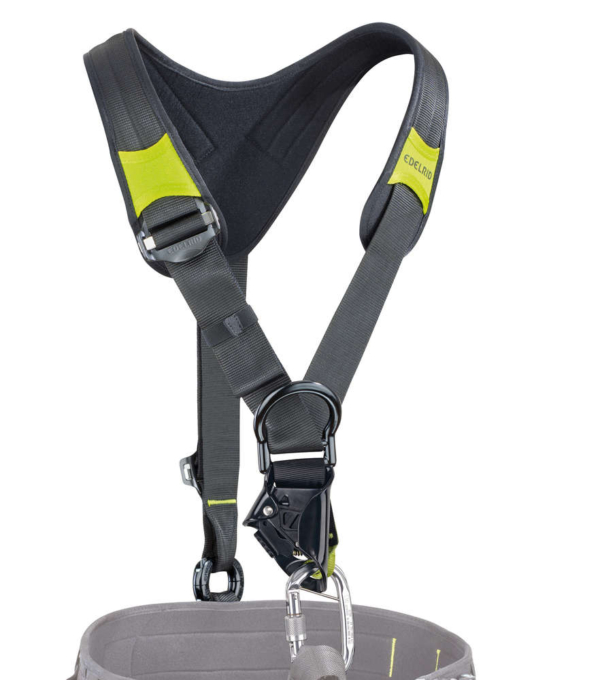 Edelrid - Core Top with Chest Ascender (Black-Green)