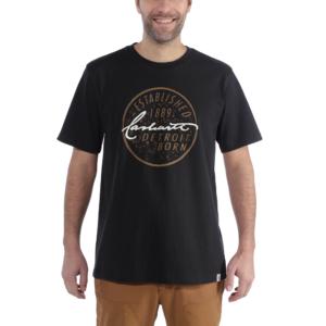 Carhartt - DETROIT BORN LOGO T-SHIRT S/S XXL BLACK