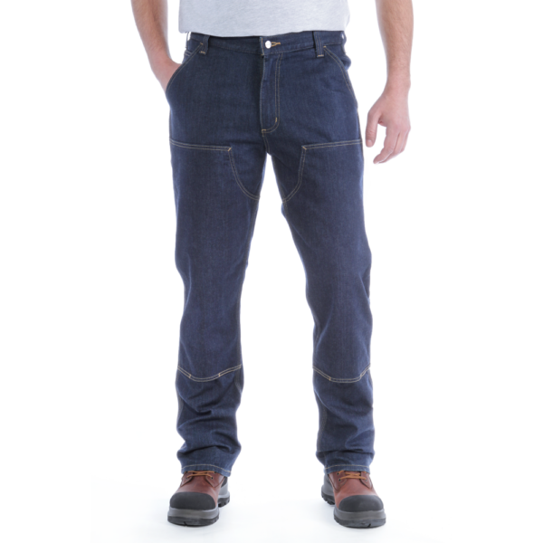 Carhartt - DOUBLE FRONT DUNGAREE JEANS W44/L30 ULTRA BLUE