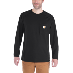 Carhartt - FORCE COTTON T-SHIRT L/S XXL BLACK