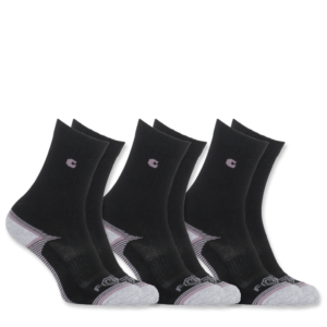 Carhartt - FORCE PERFORMANCE SOCK 3-PAIR L BLACK