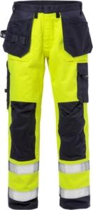 Fristads - Flame High Vis Handwerkerhose Kl. 2 2584 FLAM Warnschutz-Gelb/Marine D120