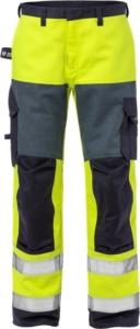 Fristads - Flame High Vis Hose Kl. 2 2585 FLAM Warnschutz-Gelb/Marine D120