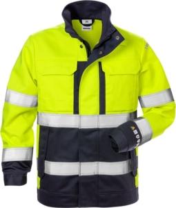 Fristads - Flame High Vis Jacke Damen Kl. 3 4590 FLAM Warnschutz-Gelb/Marine 3XL