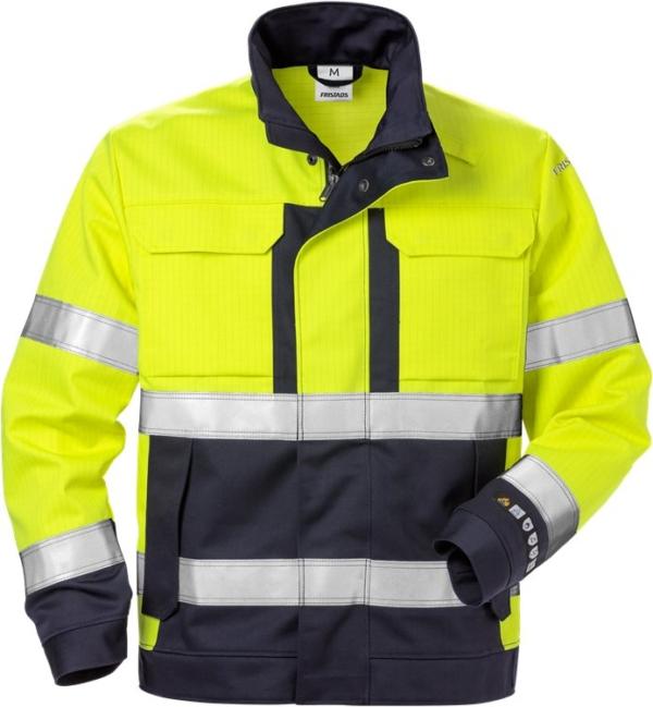 Fristads - Flame High Vis Jacke Kl. 3 4584 FLAM Warnschutz-Gelb/Marine 3XL