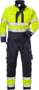 Fristads - Flame High Vis Winteroverall Kl. 3 8088 FLAM Warnschutz-Gelb/Marine 3XL