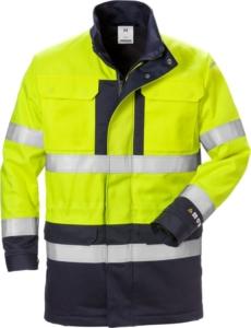 Fristads - Flame High Vis Winterparka Kl. 3 4589 FLAM Warnschutz-Gelb/Marine 3XL