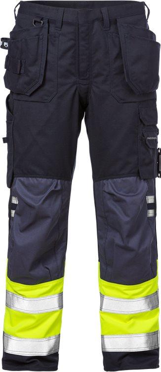 Fristads - Flamestat High Vis Handwerkerhose Kl. 1 2074 ATHS Warnschutz-Gelb/Marine D116