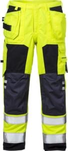 Fristads - Flamestat High Vis Handwerkerhose Kl. 2 2075 ATHS Warnschutz-Gelb/Marine D116