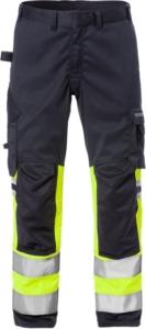 Fristads - Flamestat High Vis Stretchhose, Kl. 1 2162 ATHF Warnschutz-Gelb/Marine D116