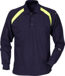 Fristads - Flamestat Poloshirt Langarm 784 PFLA Dunkelblau 3XL