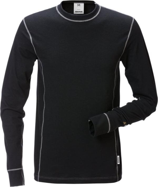 Fristads - Flamestat T-Shirt Langarm 7026 MOF Schwarz 4XL
