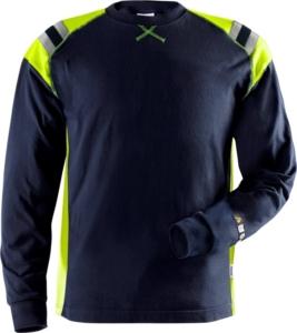 Fristads - Flamestat T-Shirt Langarm 7072 TFLH Dunkelblau 3XL