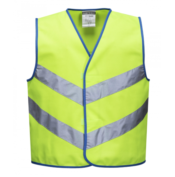 Kids High Vis Weste Grün S