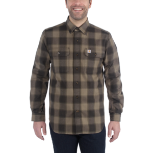 Carhartt - HUBBARD SLIM FIT FLANNEL SHIRT XXL BURNT OLIVE