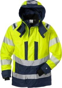 Fristads - High Vis Airtech® Außenjacke Damen Kl. 3 4518 GTT Warnschutz-Gelb/Marine 3XL