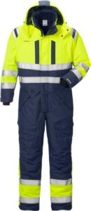 Fristads - High Vis Airtech® Winteroverall Kl. 3 8015 GTT Warnschutz-Gelb/Marine 3XL