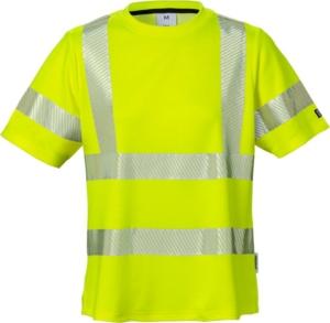 Fristads - High Vis Damen-T-Shirt, Kl. 2 7458 THV Warnschutz-Gelb 3XL