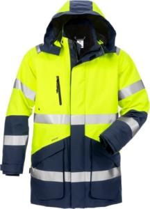 Fristads - High Vis GORE-TEX Winterparka Kl.3 4989 GXB Warnschutz-Gelb/Marine 3XL