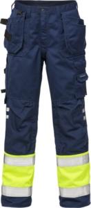Fristads - High Vis Handwerkerhose Kl. 1 2029 PLU Warnschutz-Gelb/Marine D120