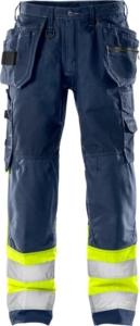 Fristads - High Vis Handwerkerhose Kl. 1 2093 NYC Warnschutz-Gelb/Marine D120