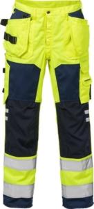 Fristads - High Vis Handwerkerhose Kl. 2 2025 PLU Warnschutz-Gelb/Marine D120