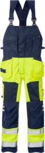 Fristads - High Vis Handwerkerlatzhose Kl. 2 1014 PLU Warnschutz-Gelb/Marine D120