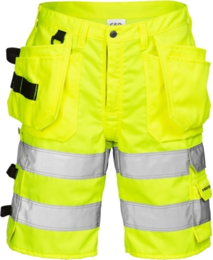 Fristads - High Vis Handwerkershorts Kl. 2 2028 PLU Warnschutz-Gelb C66