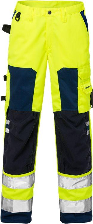 Fristads - High Vis Hose Damen Kl. 2 2135 PLU Warnschutz-Gelb/Marine 52