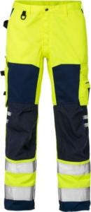 Fristads - High Vis Hose Kl. 2 2026 PLU Warnschutz-Gelb/Marine D120