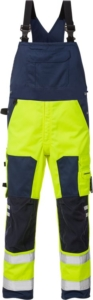 Fristads - High Vis Latzhose Kl. 2 1015 PLU Warnschutz-Gelb/Marine D120
