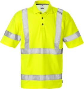 Fristads - High Vis Poloshirt 7025 Kl. 3 PHV Warnschutz-Gelb 4XL