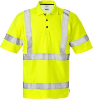 High Vis Poloshirt 7025 Kl. 3 PHV Warnschutz-Gelb 4XL