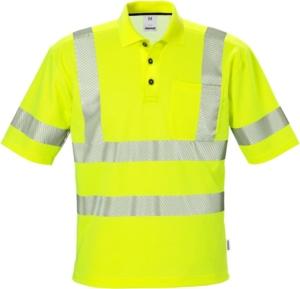 Fristads - High Vis Poloshirt Kl. 3 7406 PHV Warnschutz-Gelb 4XL