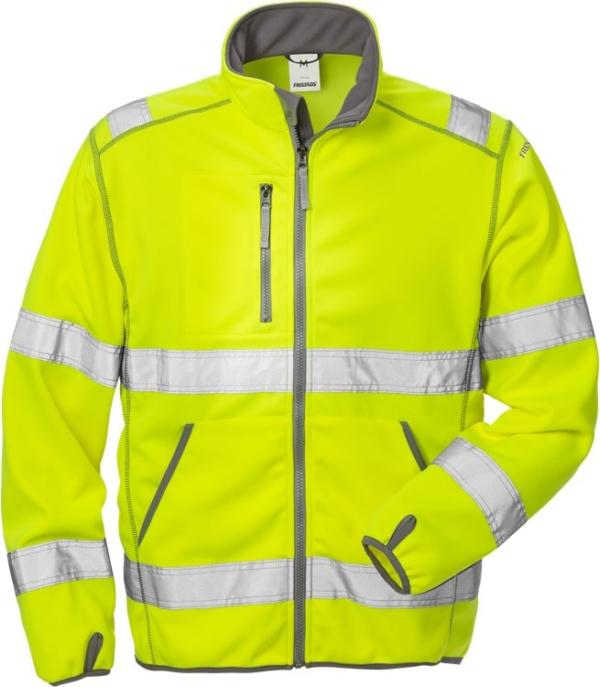 Fristads - High Vis Softshell-Jacke Kl. 3 4840 SSL Warnschutz-Gelb 3XL