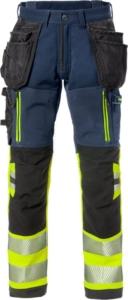 Fristads - High Vis Stretch-Handwerkerhose Kl. 1 2568 STP Warnschutz-Gelb/Marine D120