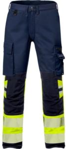 Fristads - High Vis Stretch-Hose Kl. 1 2705 PLU Warnschutz-Gelb/Marine D120