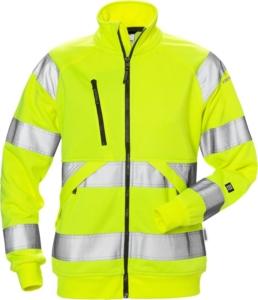 Fristads - High Vis Sweatjacke Damen Kl.3 7427 SHV Warnschutz-Gelb 3XL