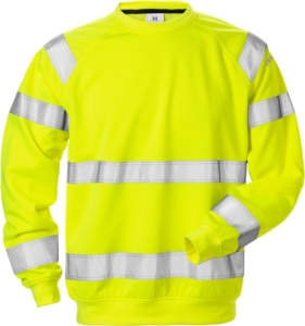 Fristads - High Vis Sweatshirt Kl. 3 7446 SHV Warnschutz-Gelb 4XL