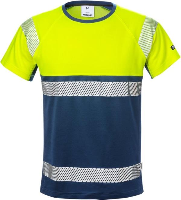 Fristads - High Vis T-Shirt, Kl. 1 7518 THV Warnschutz-Gelb/Marine 4XL